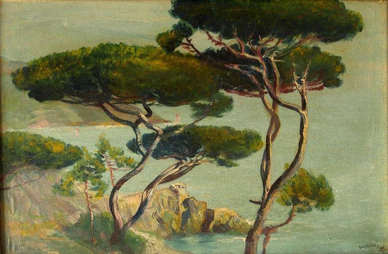 Costa delle 5 Terre, olio su tela 39,7x59,7 1930