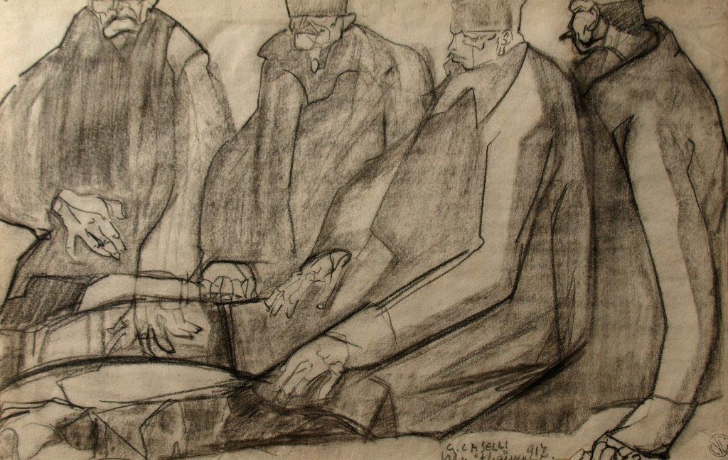 Deportati 1917 Mauthausen 27,2x42,8 disegno su carta collezione Carozzi Lerici