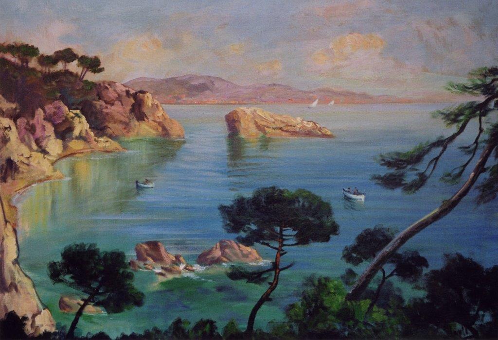Il golfo della Spezia olio su tela anni 30 100X70