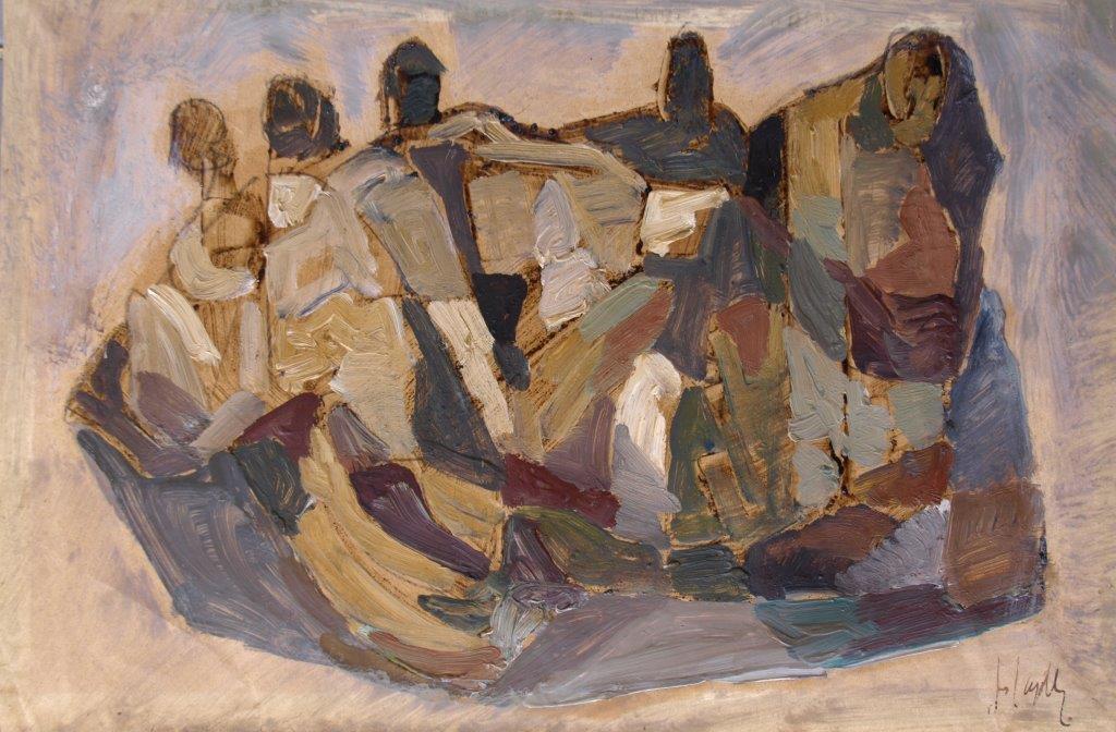 La prigionia e i prigionieri, 20x30,1 olio su carta