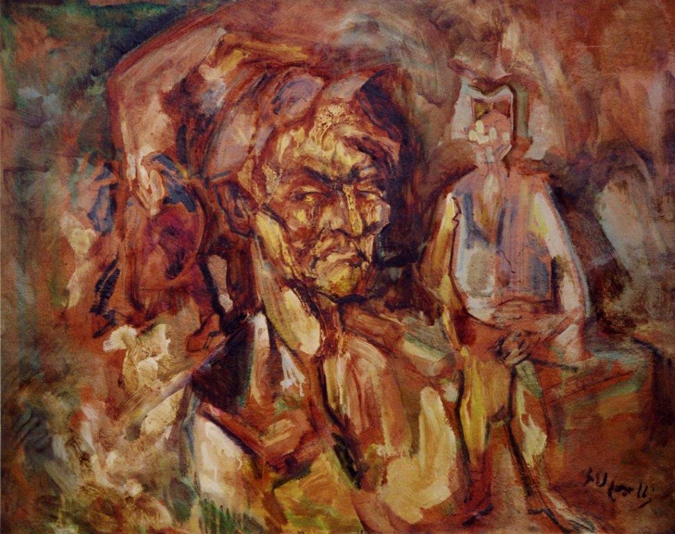 Mathausen-autoritratto olio su cartone 1950 89X72
