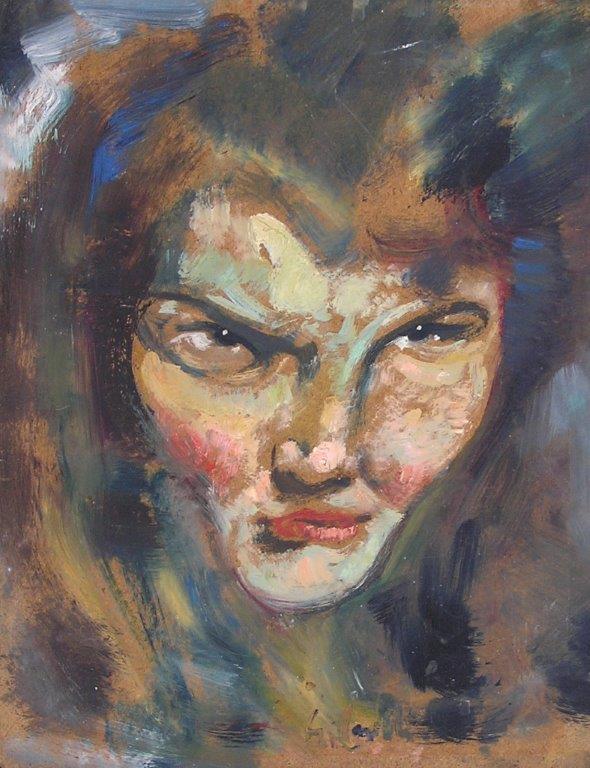 Ritratto di Nuccia (Margot) olio su compensato 28X35