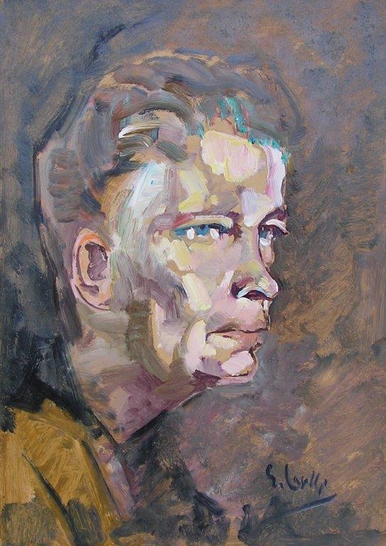 Ritratto1 olio su carta 1950 35X50